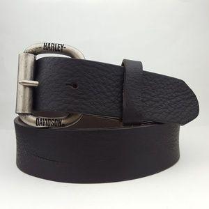 Harley-Davidson Buckle with Genuine Leather Belt